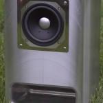総金属エンクロージャー(外箱)によるバックロードホーン型12cmスピーカー